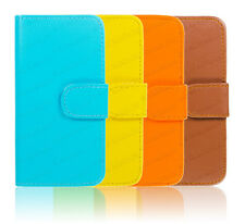 PU Leather Wallet Flip Case Cover For iPhone 5c 4 5 4s 5s Free Stylus