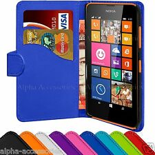 Book PU Leather Flip Wallet Case Cover Pouch Holder For Nokia Lumia 63