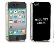 'Middle Finger Salutes' Iphone Case (Fits Iphone 4/4s, 5c, 5/5s)
