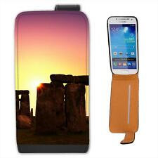 Stonehenge Pagan Sunset Leather Flip Case for Samsung S4 Mini