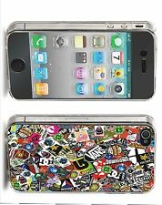 Stickerbomb Iphone Case (Fits Iphone 4/4s, 5c, 5/5s)