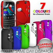 HARD BACK PROTECTIVE CASE COVER, EARPHONE & FILM FOR BLACKBERRY CURVE