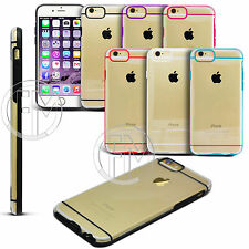 CLEAR TRANSPARENT HARD BACK SILICONE TPU BUMPER CASE COVER FOR APPLE I