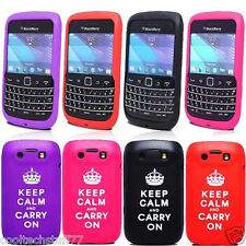 For Blackberry Bold 9790 Keep Calm and Carry On Silicone Mobile Phone