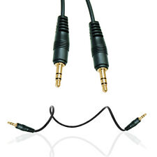 BLACK 3.5MM  TO 3.5MM STEREO JACK TO JACK 1M PLUG AUDIO CABLE FOR VARI