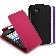 All Colours PU Leather Flip Wallet Case Cover Sleeve Fits BlackBerry 9