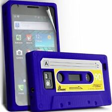 CASSETTE SILICONE CASE SKIN COVER + SCREEN GUARD FOR SAMSUNG I9100 GAL