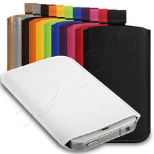Deluxe PU Leather Custom Pouch Case Cover Sleeve Fits Nokia Asha 501 P
