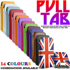 Pull Tab Flip Leather Case Cover Pouch Sleeve fits Vodafone Smart 4 Po