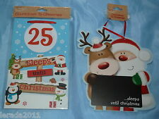 CHRISTMAS COUNTDOWN NO OF SLEEPS UNTIL CHRISTMAS ADVENT CALENDAR NOVELTY CHALK