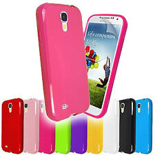 PLAIN SOLID GLOSSY TPU GEL CASE COVER FOR SAMSUNG GALAXY S4 i9500 + SC