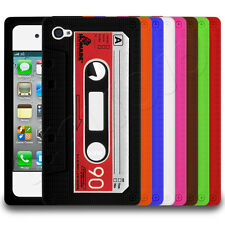 Retro Cool Cassette Tape Style Silicone Case Cover Skin Fits Apple iPh