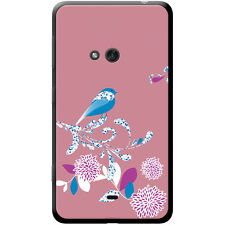 Elegant Bird On Flower Hard Case For Nokia Phone Models