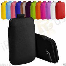 Premium PU Leather Pull Tab Pouch Case Cover For Blackberry Bold 9700