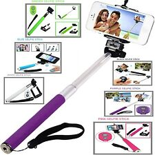 SELFIE STICK TELESCOPIC HANDLE+REMOTE SHUTTER FOR APPLE IPHONES