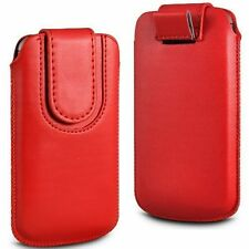 Soft Magnet PU Leather Pull Tab Flip Case Cover For Vodafone Smart 4 M