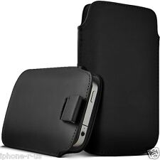 LARGE Premium PU Leather Pull Tab Pouch Case Cover For Nokia Lumia 520