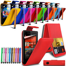 Apple iPhone 5 Stylish PU Leather Flip Skin Case Cover, Stylus Touch P