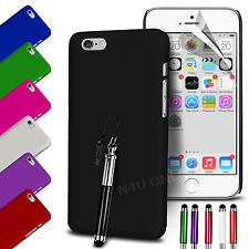 HARD BACK SKIN CASE COVER, SCREEN GUARD & STYLUS PEN FOR APPLE IPHONE
