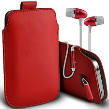 PU Leather Pull Tab Flip Case Cover & Handsfree For Vodafone Smart 4 M