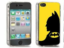 Batman Iphone Case (Fits Iphone 4/4s, 5c, 5/5s) Black and Yellow