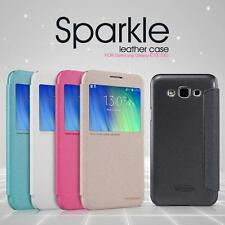 Nillkin Sparkle Series S View Leather Flip Cover Case For Samsung Galaxy E7