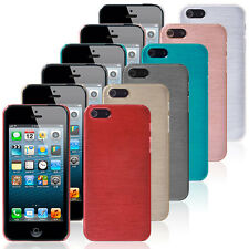 Luxury Brushed Plastic Chrome Hard Case Cover For iPhone 5/5S+ Screen