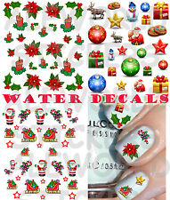 WATER Decals NATALE CHRISTMAS STICKERS UNGHIE NAIL ART ADESIVI TATTOO TRANSFER