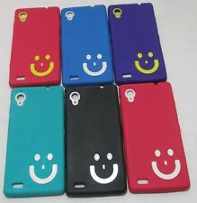 Gionee Elife E5 Soft Silicon Smiley Back Cover Cases/Screen Guard/Tempered Glass