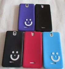 Micromax A190 Canvas HD Plus Soft Smiley Back Cover/Screen Guard/Tempered Guard