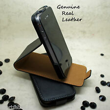 Real Genuine Leather Flip Stand Magnetic Case Cover for various Mobile Phones