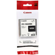 GENUINE ORIGINAL CANON PFI-106MBK MATTE BLACK INK CARTRIDGE (6620B001AA)