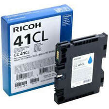 GENUINE ORIGINAL RICOH 405766 LOW YIELD CYAN GEL INK CARTRIDGE (GC41CL)