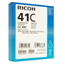 GENUINE ORIGINAL RICOH 405762 CYAN GEL INK CARTRIDGE (GC41C)