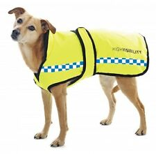 Equisafety Polite Dog Rug POLICE COLOURS Waterproof Reflective Dog Coat