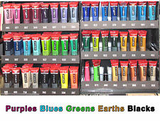 Amsterdam 20ml acrylic Purples Blues Greens Earths Blacks same low P+P any qty .