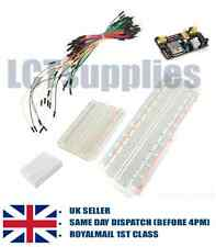 Breadboard for prototyping solderless circuit audrino bundle /wires/power supply
