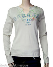 CHIPIE Tee shirt femme manches longues  beige taille 3 = 38 - 40