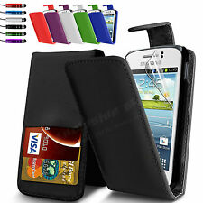 Leather Wallet Flip Case Cover For Samsung Galaxy Young S6310 Screen P