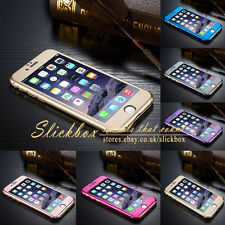 Luxury 3D Ultra-Thin Full Body Aluminium Metal Skin Case Cover For iPh