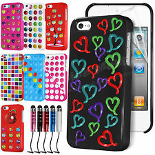 Hard Back Case Cover For APPLE iPhone 4/4S with Free Screen Protector