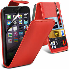 Luxury PU Leather Flip Case Cover, Film & Pen For Apple Iphone 6
