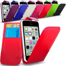 Apple iPhone 5C - PU Leather Flip Case Cover Pouch & Screen Protector