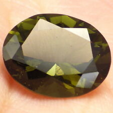 BOHEMIAN MOLDAVITE-CHLUM 4.75Ct LIME/FOREST GREEN COLOR-READ BUYING GUIDE-RARE!