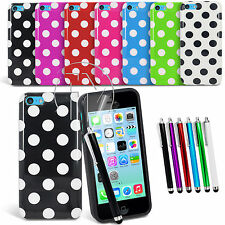 POLKA DOT GEL CASE SILICONE CASE COVER FOR APPLE IPHONE 5C
