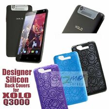 Designer Vivid Coloured Soft Silicon Back Cover Case Pouch For Xolo Q3000