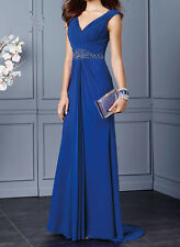New Long Bead Wedding Dress Bridesmaid Evening Ball Gown Formal Prom Party Dress