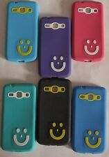 SAMSUNG GALAXY STAR ADVANCE G350E Soft Smiley Back Cover Cases/Tempered Glass