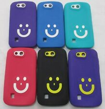 Karbonn A1+Duple Soft Silicon Smiley Back Cover Cases/Screen Guard