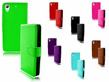 Magnetic Wallet Flip Book Holder Stand Leather TPU Case Cover For HTC Desire 626